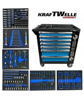 Количка с инструменти KraftWelle - 6 пълни чекмеджета