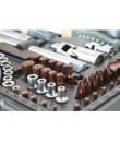 """Гедоре ROCK FORCE 41082-5 Premium 108 + 6 части, CR-V, Cr-Mo, 1/2"""" и 1/4"""""""